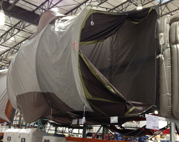 This is what our new tent might look like in a high wind inside a Costco. & Packing for Prairie City - Desert Dingo Racing