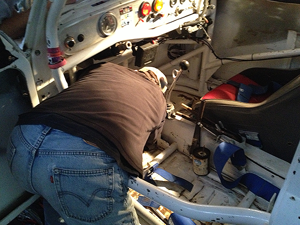Bob installing the pedal assembly