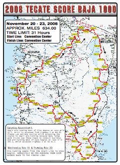 Map Baja 250 2015 | Autos Post