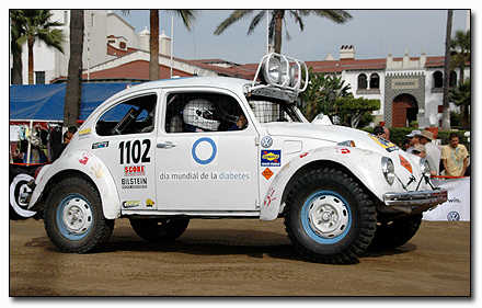 On the starting line at the 2008 Baja 1000